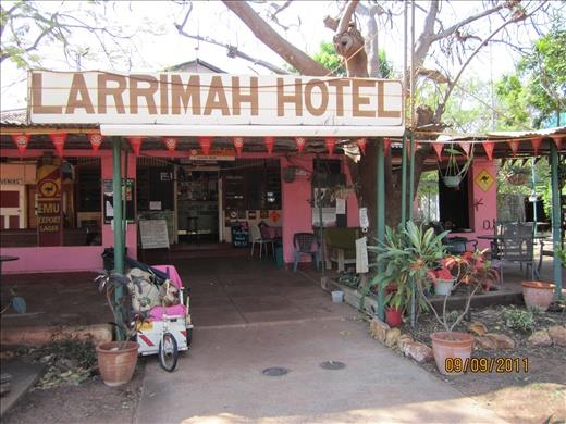 The Pink Panther LARRIMAH HOTEL, (aka) Larrimah Wayside Inn is now on the market.  The Pink Pub is just the place to really get away from it all !!!!